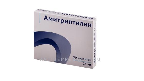 Упаковка таблеток амитриптилин