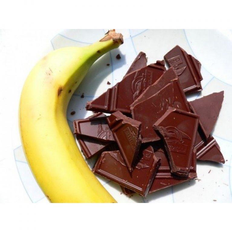 натуральные антидепрессанты - банан и шоколад