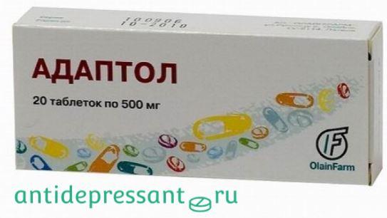 Таблетки Адаптол инструкция - показания к применению - побочные эффекты - отзывы