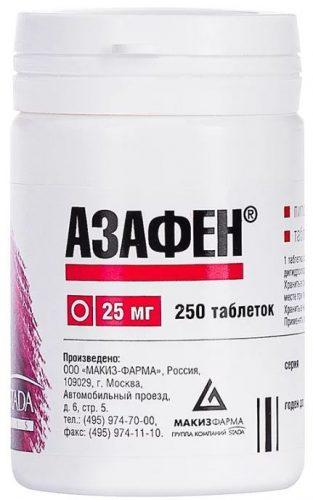 Таблетки Азафен инструкция по применению - аналоги - показания к применению - отзывы пациентов